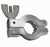 KF-Normal-Spannring Aluminium DN 10/16, Typ DN 10/16 KF, A 45 mm, B 16 mm, C / D 22 / 61 mm