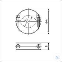 3Panašios prekės KF Special Clamping Rings, Stainless Steel, for Aluminium Seals Type DN 10/16...
