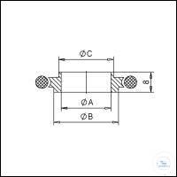 5Panašios prekės KF Centering Rings with Perbunan-O-Ring, Stainless Steel Type DN 10/16 KF, A...