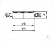 11Panašios prekės KF Centering Rings with Fine Filter with Perbunan-O-Ring, Stainless Steel...