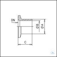 3Artikelen als: KF Flanges with Short Tubulation, Stainless Steel Type DN 16 KF, A 20 mm, B...