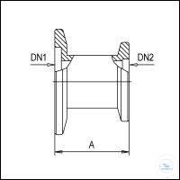 5Panašios prekės KF Reducing Adapters, Stainless Steel Type DN 25/16 KF DN1/DN2, A 28 mm KF...