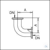 3Panašios prekės KF Elbows, Stainless Steel Type DN 16 KF, A 40 mm KF Elbows, Stainless Steel...