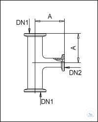3Panašios prekės KF Reducing Tees, Stainless Steel Type DN 25/16 KF DN1/DN2, A 50 mm KF...