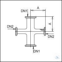 3Panašios prekės KF Reducing Cross Pieces, Stainless Steel Type DN 25/16 KF, A 50 mm, B 40 mm...