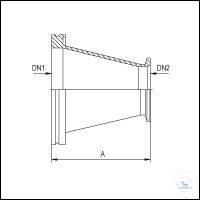 2Panašios prekės Reducing Adapters Conical ISO-K/KF, Stainless Steel Type DN 63/25 ISO-K/KF...