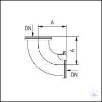 4Panašios prekės ISO-K Elbows 90°, Stainless Steel Type DN 100 ISO-K, A 108 mm ISO-K Elbows...