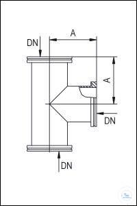 5Panašios prekės ISO-K Tees, Stainless Steel Type DN 63 ISO-K, A 88 mm ISO-K Tees, Stainless...