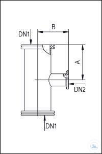 6Panašios prekės Reducing Adapter Tees ISO-K/KF, Stainless Steel Type DN 63/16 ISO-K/KF...