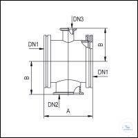 6Panašios prekės Measuring Pieces 180° ISO-K/KF/KF, Stainless Steel Type DN 63/40/16...