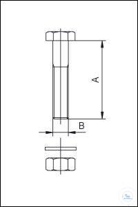 5Panašios prekės CF Bolt Sets, Stainless Steel Type DN 16 CF, A 20 mm, B M4 x 20 mm CF Bolt...