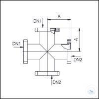 7Panašios prekės CF Cross Pieces 4 Way, Stainless Steel Type DN 16 CF, A 38 mm CF Cross Pieces...