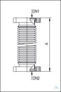 12Panašios prekės CF Metal Hoses, Annealed, Stainless Steel Type DN 16 CF, A 250 mm CF Metal...