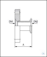 8Panašios prekės Reducing Adapters CF/KF, Stainless Steel Type DN 16 CF / DN 16 KF DN1/DN2, A...