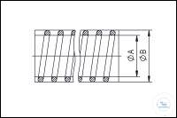 PVC-Schlauch mit Stützspirale DN 16, Typ DN 16 KF, A 16 mm, B 23 mm,