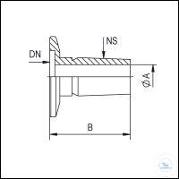 2Artikelen als: Adapter Flanges KF-ST Cone, Stainless Steel Type DN 16 KF, Cone 19/26 ST, A...