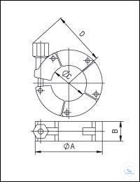 9Panašios prekės KF Clamping Chains, Aluminium Type DN 10/16 KF, A 52 mm, B 16 mm, C / D 23 /...