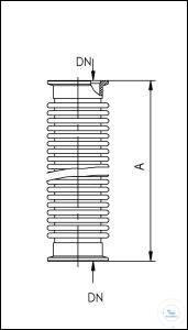 19Panašios prekės KF Flexible Metal Tubes, Annealed, Stainless Steel Type DN 25 KF, A 750 mm KF...