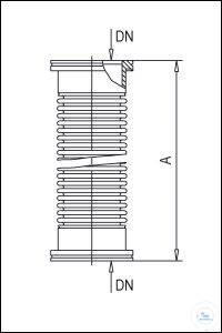 4Panašios prekės ISO-K Metal Tubes, Annealed, Stainless Steel Type DN 63 ISO-K, A 250 mm ISO-K...