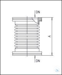 ISO-K Suspension Bellows Flexible, Stainless Steel Type DN 63 ISO-K, A 120 mm...
