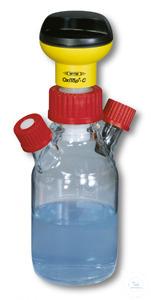 MF45/1000 Meßflasche mit 2x Anschlußstutzen