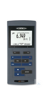 pH 3310 Portable pH/mv meter with datalogger function Professional, field proven pH/mV-meter with...