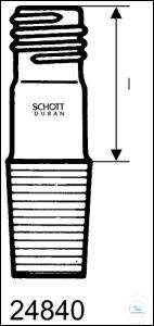 DURAN® Gewinderohr mit NS-Kern, GL 14, NS 18.8/26