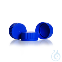 Schnellschraubverschluss, GLS 80, PP, für DURAN® Laborglasflaschen, blau