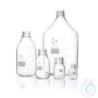 DURAN® Laborflasche, klar, mit Teilung, GL 45, ohne Schraubverschluss und...
