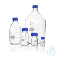 DURAN® Laborflasche, klar, mit Teilung, GL 45, mit Schraubverschluss und...