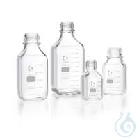 DURAN® GL 45 Laborglasflasche, vierkant, ohne Kappe und Ausgießring, 250 ml
