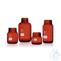 DURAN® GLS 80 Weithalsflasche, braun, protect, ohne Schraubverschluss und Ausgießring, 5000 ml