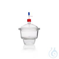DURAN® Vakuum-Exsikkator MOBILEX, mit Exsikkator-Einsatz aus Porzellan, mit Gewindedeckel GL 32...
