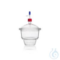 DURAN® Vakuum-Exsikkatoren mit MOBILEX-Gewinde im Deckel u.Unterteil, mit Hahn, DN 300