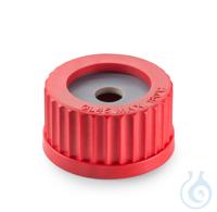 Schraubverschluss, GL 45, PBT, mit 2 Dichtscheiben (PTFE beschichtet) für pH Sonden (11,5 mm)