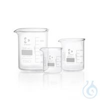 DURAN® super duty Becher, niedrige Form, mit Teilung und Ausguss, 150 ml