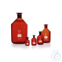 DURAN® Enghals-Standflasche, NS 12/21, braun, mit Stopfen, 25 ml
