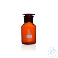 DURAN® Weithals-Standflasche, mit NS 45/40, braun, mit Stopfen, 500 ml