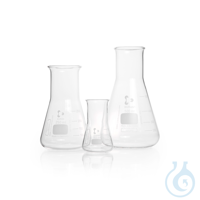 DURAN® Erlenmeyer Flask, wide neck, 200 mL Features and Benefits: Complies with DIN ISO 24450The...