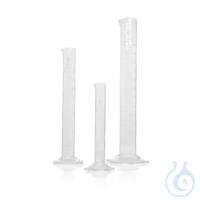 DURAN® Measuring Cylinder, hexagonal base, Class B, white scale, with graduation DURAN® Measuring...