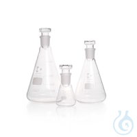 DURAN® Iodine Flask, Erlenmeyer shape, standard ground joint and glass stopper DURAN® Iodine...