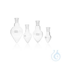 DURAN® Pear Shape Flask, with standard ground joint DURAN® Pear Shape Flask, 100 mL Features and...