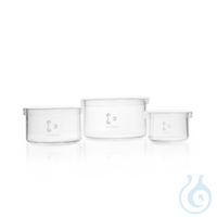 DURAN® Jar, with lid, Ø 150 x 80 mm Features and Benefits: With lid for safe storage and...