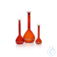 DURAN® Volumetric Flask Class A, amber, with individual certificate and CoC DURAN® Volumetric...