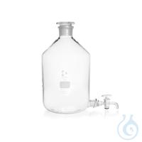 DURAN® Stutzenflaschen (Abklärflasche), Bodentubus mit NS, komplett mit NS-Hahn u. NS-Stopfen,...