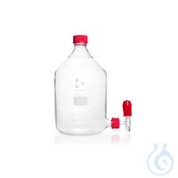 DURAN® Stutzenflaschen Hals mit DIN-Gewinde GL 45, Bodentubus GL 32, komplett, 10000 ml