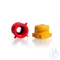 KECK Schraubkappe für Adapter KA, mit Flachdichtung EPDM 12 mm, GL 14, gelb, KECK ART.-NR. 15-10