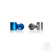 Metall-Kappen aus Aluminium, blau eloxiert, passend zu Kulturkolben Nr....