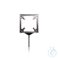 Plattenhalter für Glaskeramik-Labor-Schutzplatten aus Chromnickelstahl 135 x 135 mm