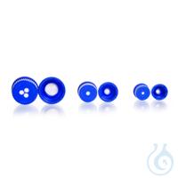 Tapa con membrana, PP, DURAN®, azul, GL 25, ePTFE Tamaño de los poros 0,2 µm...